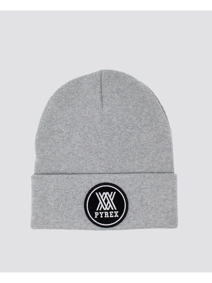 Grey Embroider Logo Beanie