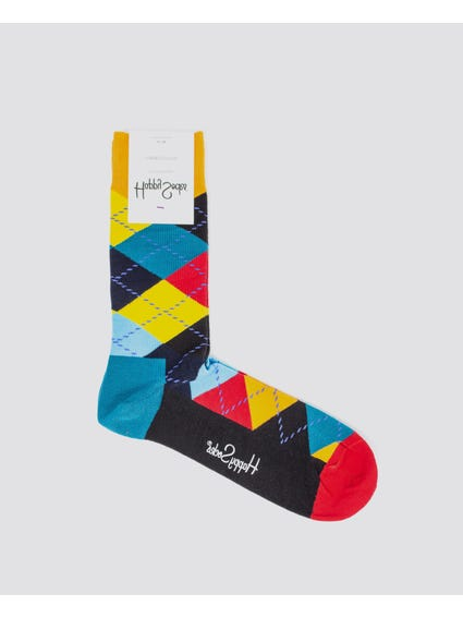 Multi Patterned Crew Socks