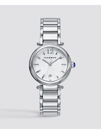 Pioneer White Dial Stainless Steel Watch