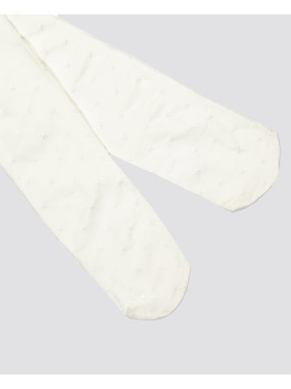 White Patterned Kids Stockings