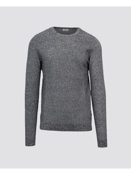 Crew Neck Structure Sweater