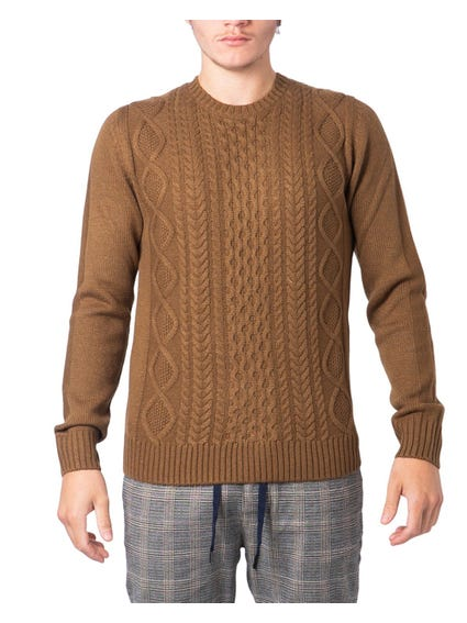 Brown Longsleeve Cuff Knitwear