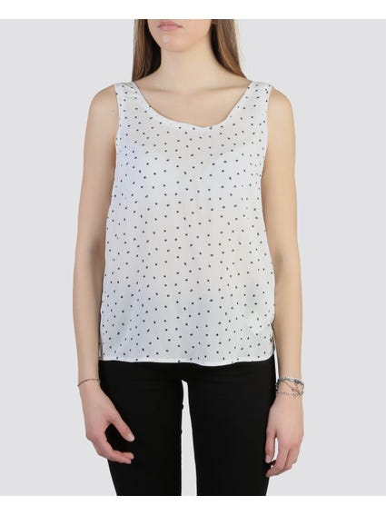 White Starry Sleeveless