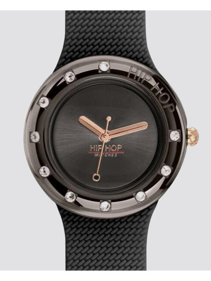 Black Metal Shine Analog Watch