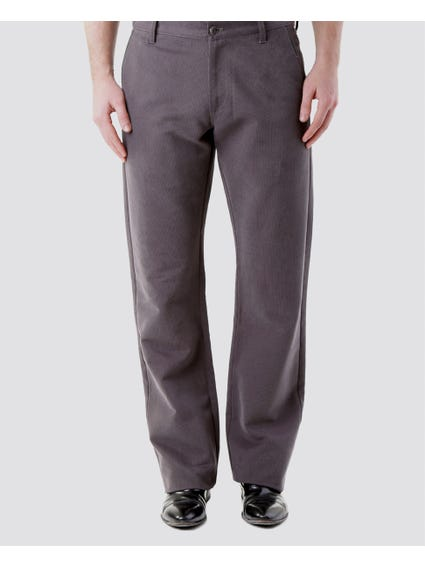 Grey Classic Exquisite Straight-Cut Pants