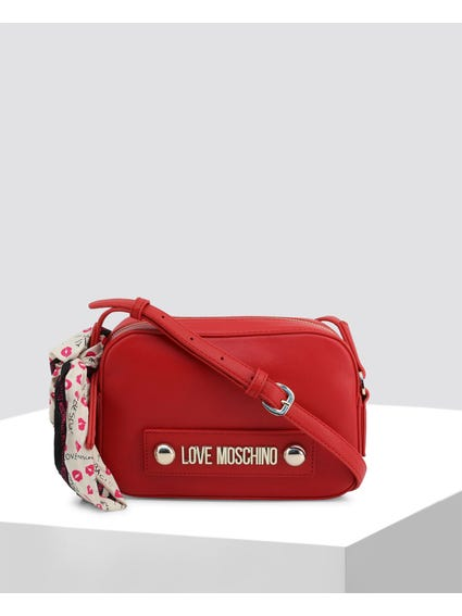Red Love Studs Crossbody Bag