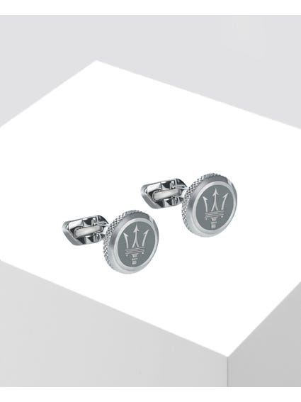 Silver Stainless Steel Cufflinks