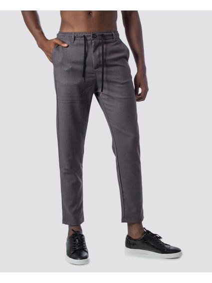 Grey Drawstring Tie Trouser
