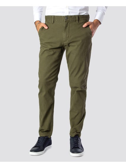 Green Plain Full Length Trouser