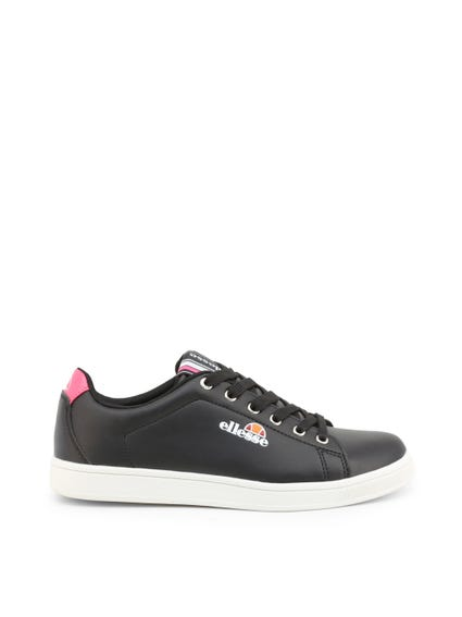 Black Dotted Lace Up Sneakers