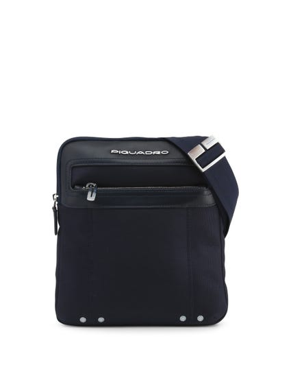 Blue Shoulder Strap Zipper Crossbody Bag