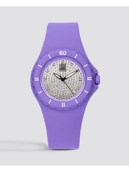 Purple Silicon Strap Quartz Watch