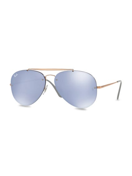 Brown Blaze Aviator Sunglasses
