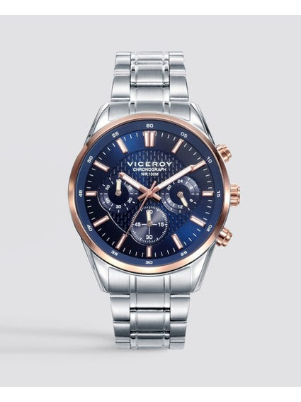 Magnum Blue Dial Stainless Steel Watch